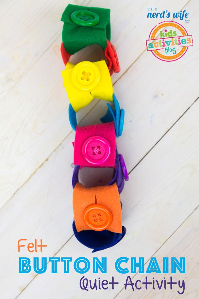 This felt button chain is perfect for keeping little hands busy!