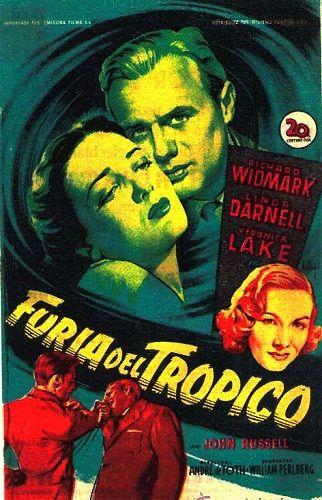 Cartel pelicula Furia del trópico (1949)