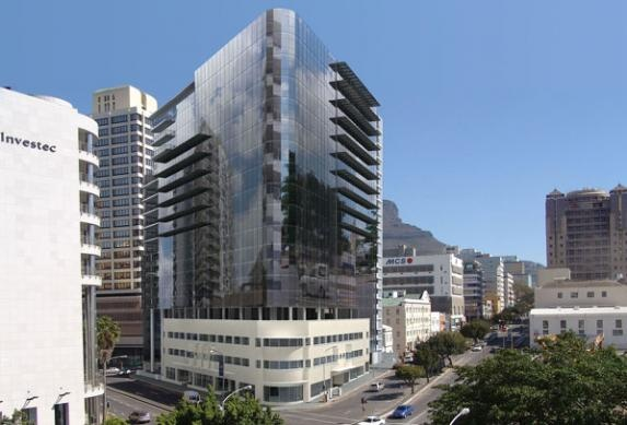 The Modern. To be constructed upon securing a large enough tenant. Designed by Dennis Fabian Berman Architects, it will rise to 18 storeys above an existing building of 3 storeys. Will be located on the block directly across Bree Street from Portside.