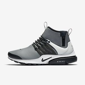 Nike Air Presto Mid Utility Cool Grey/Off-White/Volt/Black Mens Shoes