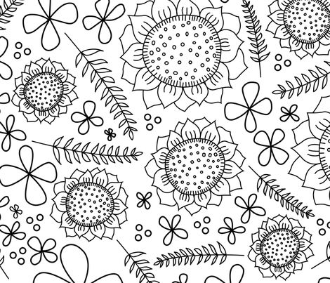 Color Me Sunflowers fabric by creatiate on Spoonflower - custom fabric
