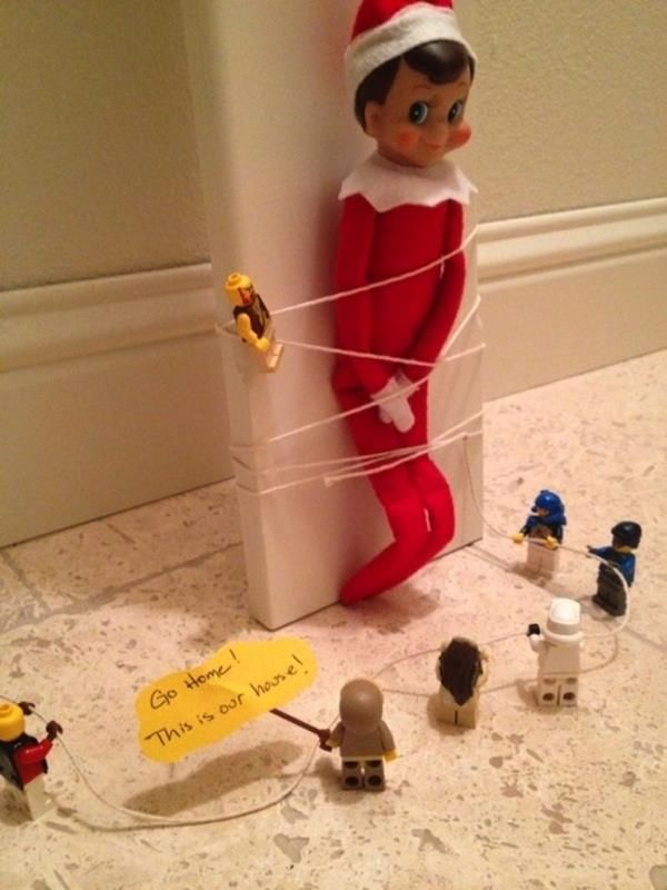 75 Elf on the Shelf ideas. Since we have one now I guess it's time to get crafty...