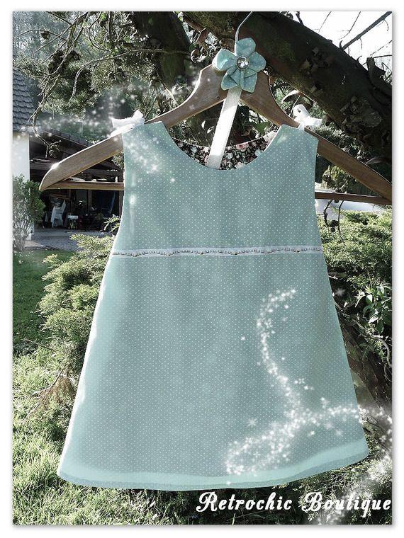 http://www.alittlemarket.com/boutique/retrochicboutique14  Robe chasuble/trapèze style rétro Bandeau coordonné