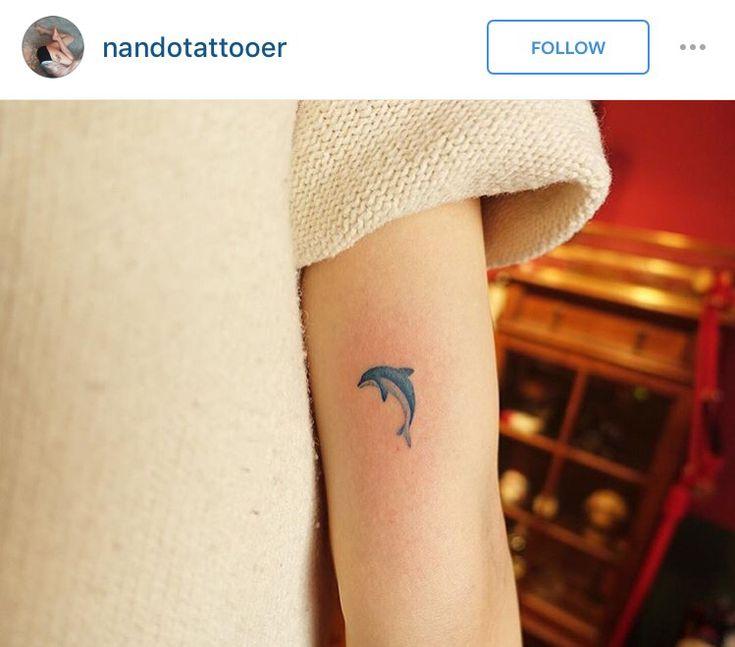 Cute dolphin tattoo