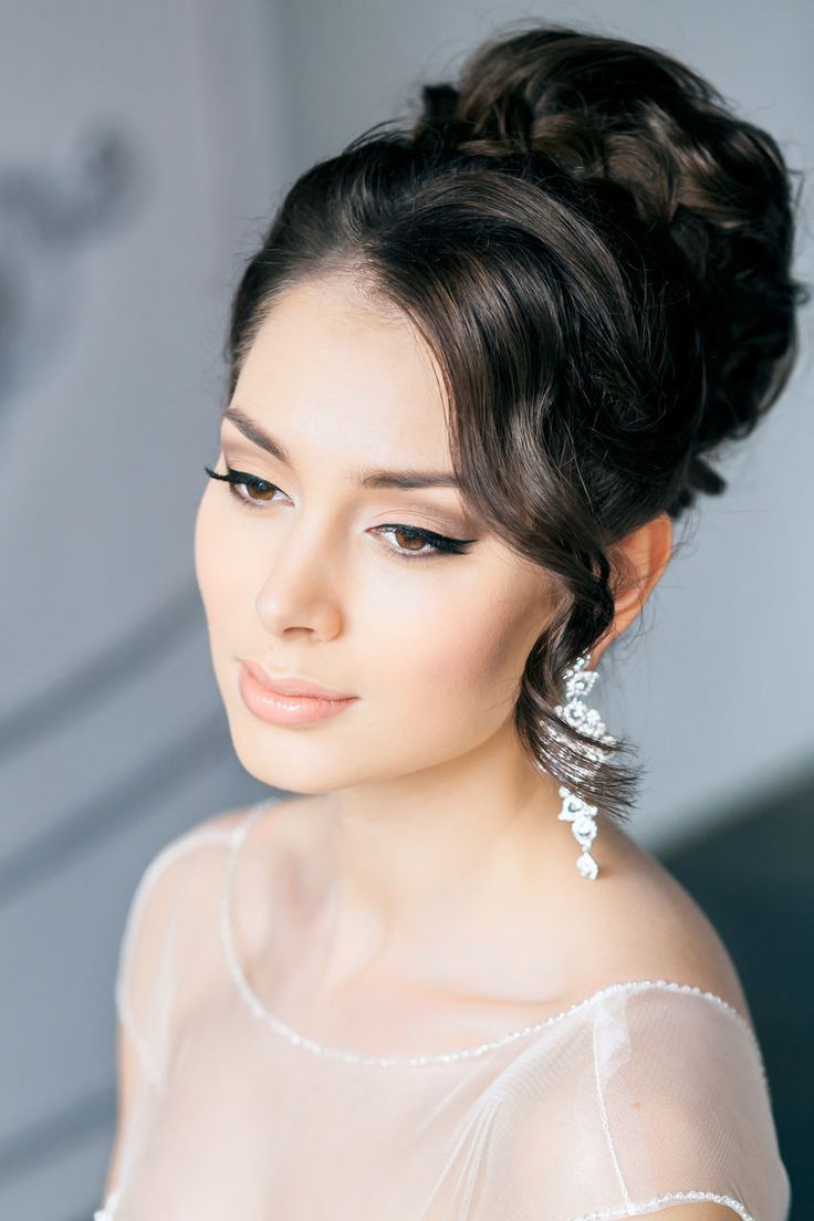 Elegant and simple. Wedding makeup inspiration. This look will be complete with a flared out false eyelashes style such as Unforgettable or Voila Lash. http://esqido.com
