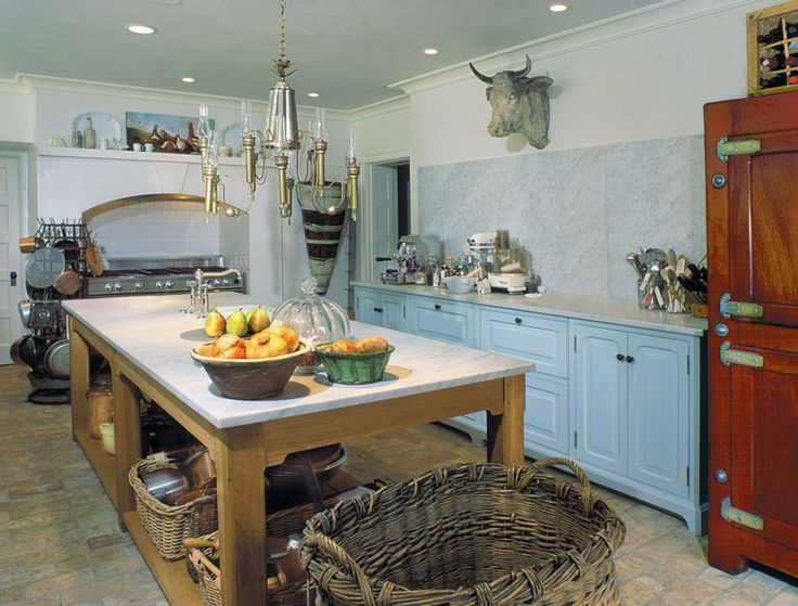 Turquouise french kitchen decor