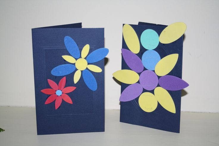 Cards made with sponge rubber.