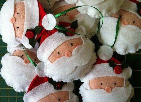 10 plantillas para hacer adornos de navidad en fieltro