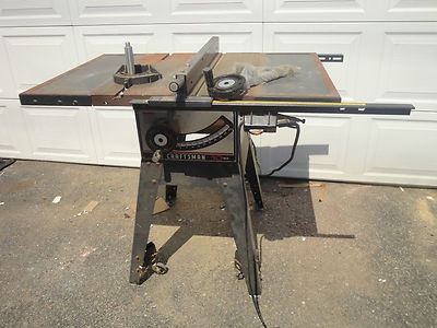Sears craftsman 10 table saw with 1hp motor w blade for 10 table saw motor