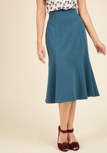 1930s Style Skirt- Flare It With Anything Midi Skirt $79.99 AT vintagedancer.com