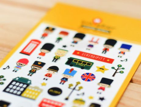 Each pack contains one sheets of Toy soldier stickers, with metallic elements. R25