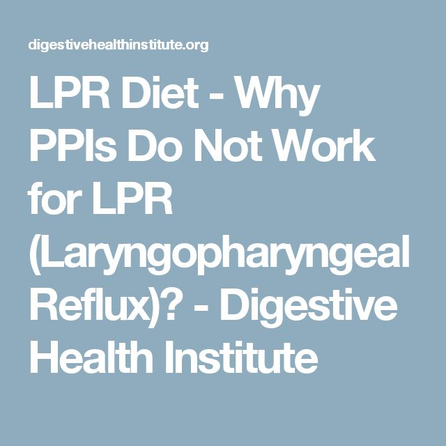 Diet for Laryngopharyngeal Reflux
