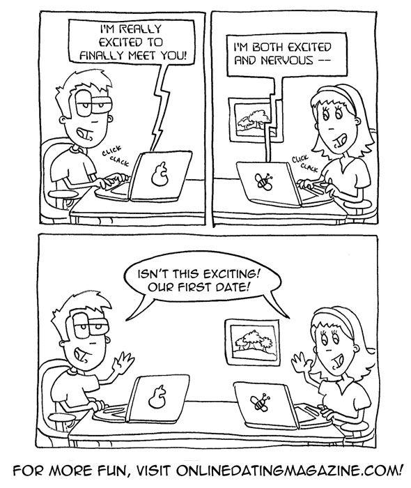 Online dating cartoon in Melbourne