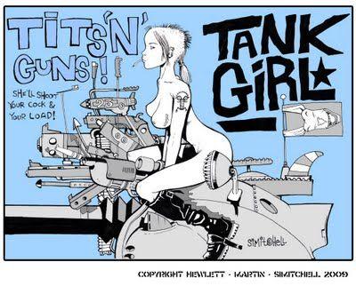 Jamie Hewlett. Tank Girl. Fuck yeah.