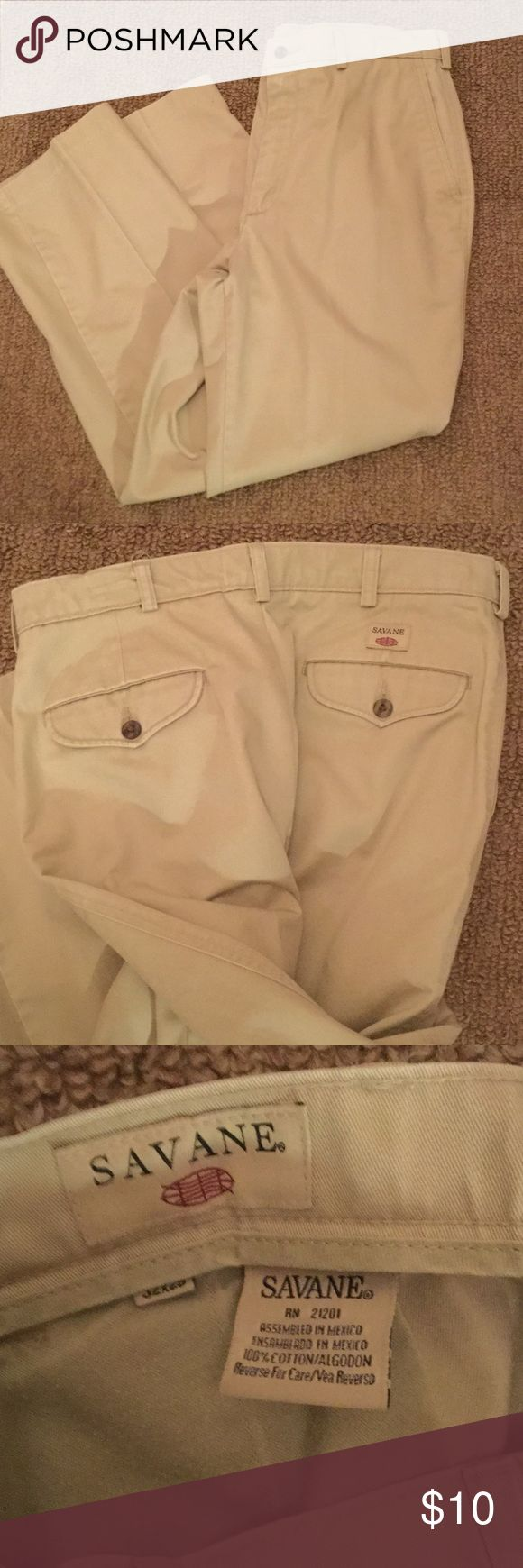 Men's Savane Pants - size 32 x 29 Excellent used condition. Smoke and pet free home.  machine washable and dryer safe Savane Pants Chinos & Khakis