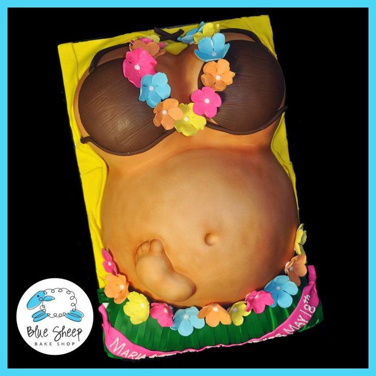 Luau baby shower fondant cake