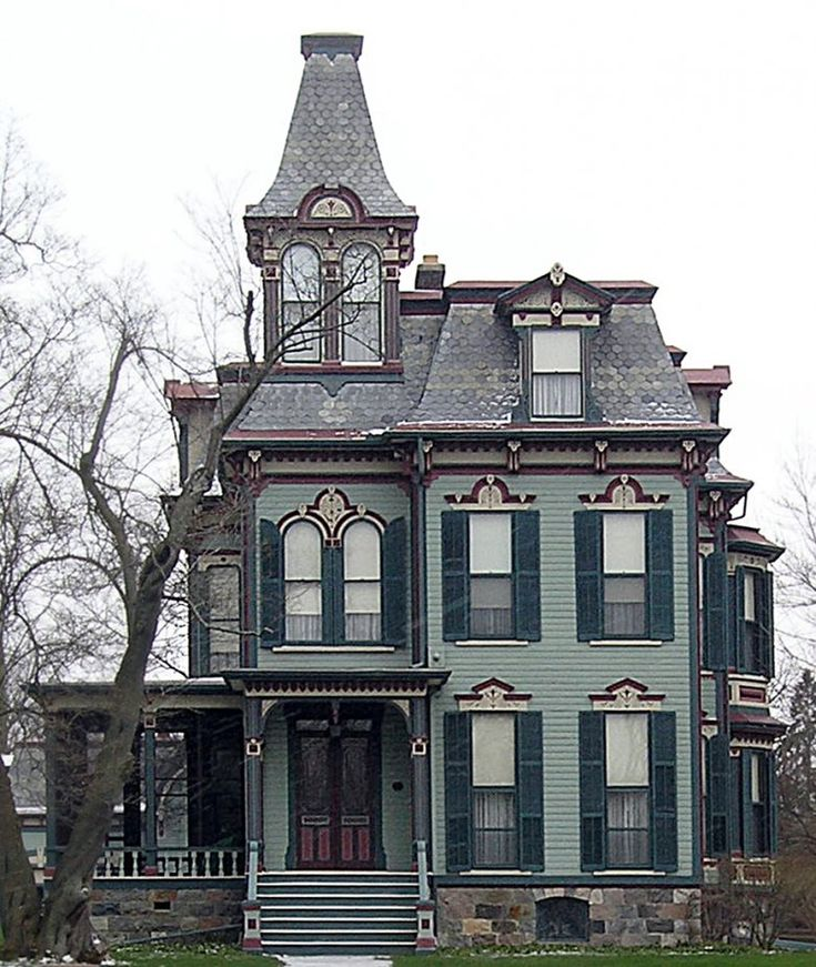 17 best images about second empire victorian on pinterest for New victorian style homes