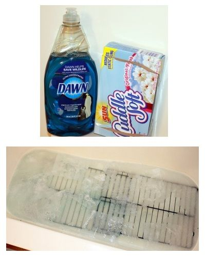 Get Oven Racks Clean W/ Dryer Sheets