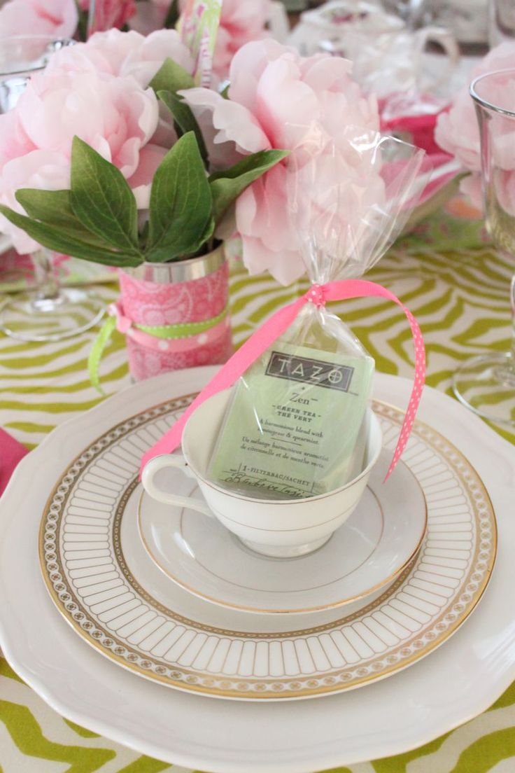 Spring Tea Party - could do the favors with a printed message to share a cup of tea with someone.