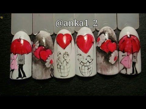 Дизайн ногтей ко Дню Святого Валентина - YouTube