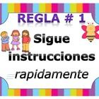 Whole Brain Teaching Rules translated to Spanish.   I remade this set and added the rest of the posters. These are more colorful and fun.  This sys...
