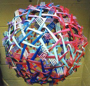 Geometric Sculpture | plastic forks | georgehart.com