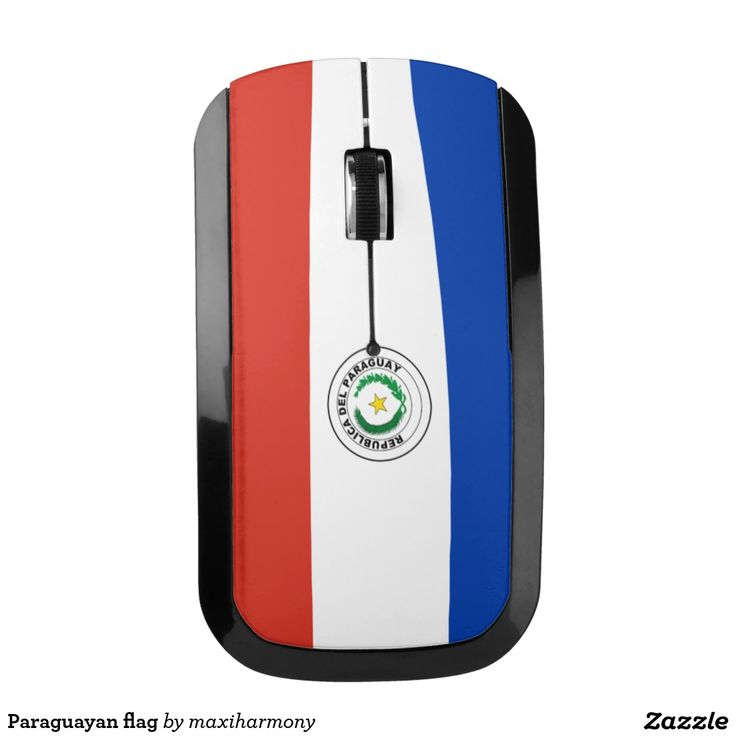 Paraguayan flag wireless mouse