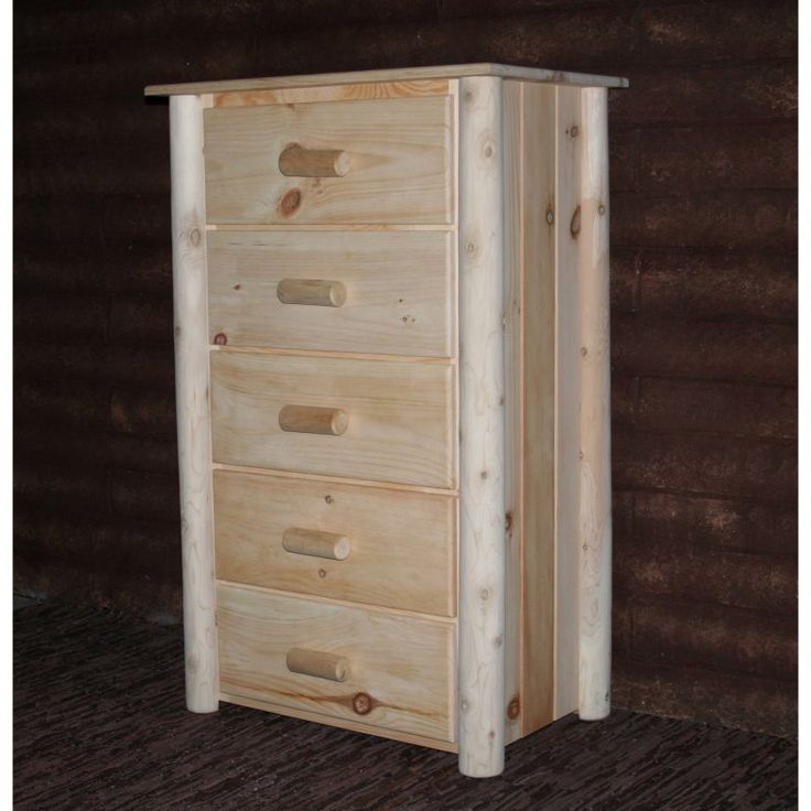 Lakeland Mills Frontier 5 Drawer Chest Unfinished Natural - H5/N