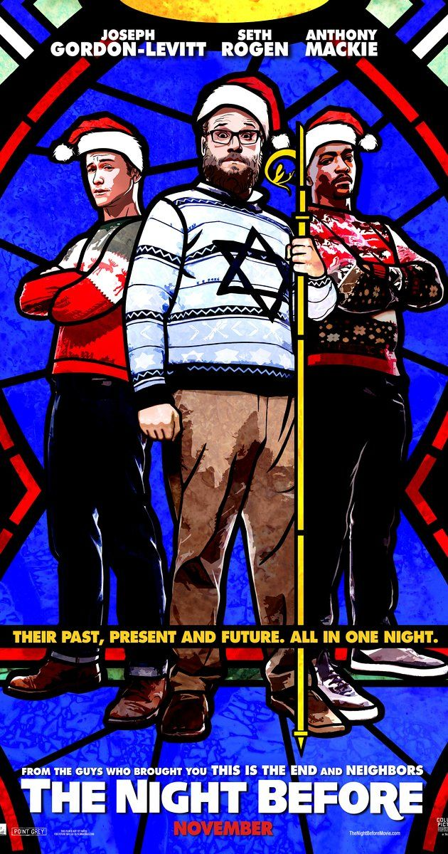 Directed by Jonathan Levine.  With Lizzy Caplan, Miley Cyrus, Joseph Gordon-Levitt, Seth Rogen. In New York City for their annual tradition of Christmas Eve debauchery, three lifelong best friends set out to find the Holy Grail of Christmas parties since their yearly reunion might be coming to an end.