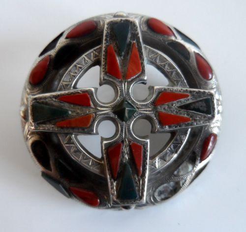 Античная викторианская стерлинговое серебро агат кельтский дизайн брошь | eBay