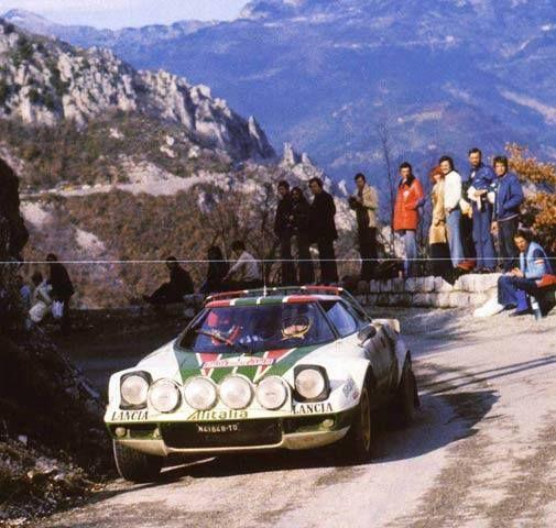 Sandro Munari - Silvio Maiga Lancia Stratos HF 1º Montecarlo 1977