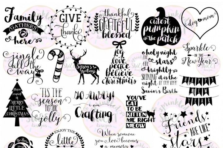 These digital files (20 SVG & PNG format)are ready to use with yourCricut Design Space,Silhouette Studio Software, Vinyl Cutter or any program that will open one of the following files: SVG & PNG Custom created for PERSONAL / SMALL BUSINESS use. Original digital files may not be shared, resold or redistributed in any way. Thank you