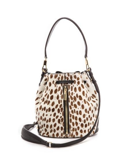 Elizabeth and James bucket mini bag in spotted haircalf #handbags