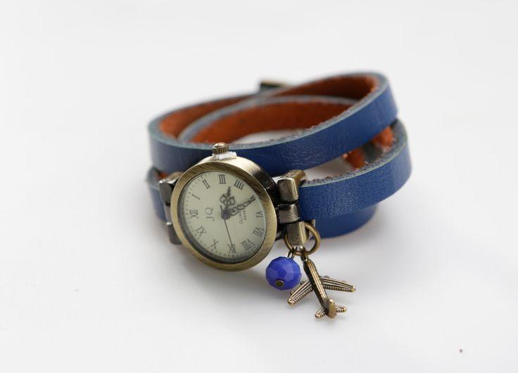 """Genuine Leather - Wristwatch, watch,""""Around the world"""" von ZWDesign auf Etsy"""