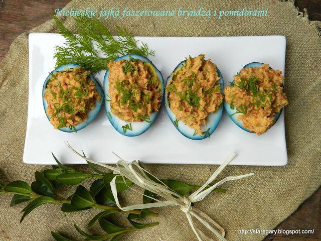 Stare Gary: Niebieskie jajka faszerowane bryndzą i pomidorami