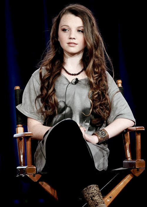 Stefania Owen at an interview for probably the Carrie ... |Stefania Owen Lovely Bones