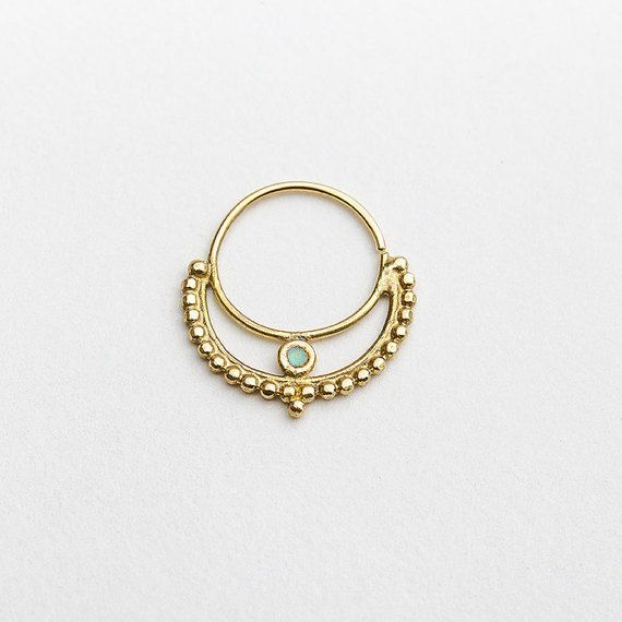 SALE 15% OFF Nose Ring Gold Nose Ring Indian Nose by StudioMeme