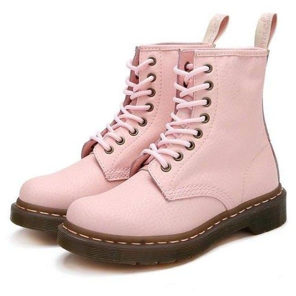 Pastel Lace Up Boots ($90) ❤ liked on Polyvore featuring shoes, boots, leather boots, real leather boots, laced up boots, lacing boots and lace-up boots