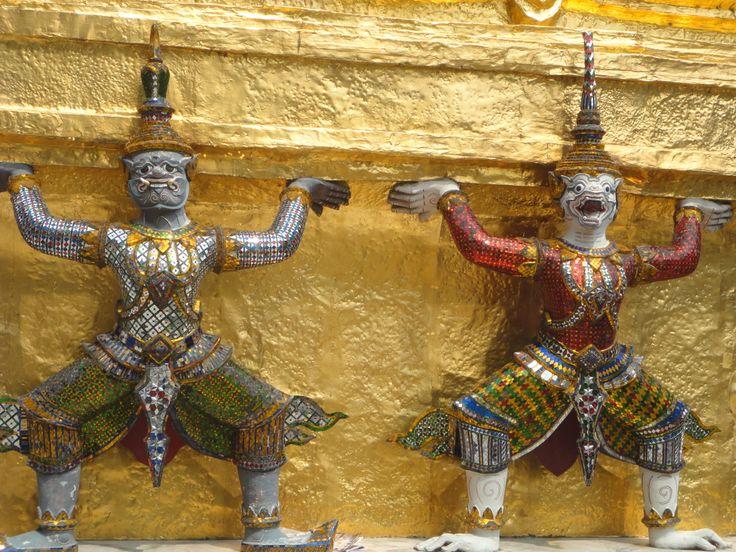 Temple guardians, Grand Palace, Bangkok, Thailand. Photo: Pat Hinsley