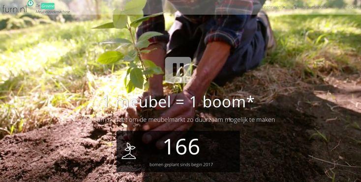 Woonzoekmachine Furn.nl start deze week met het planten van een boom voor bijna elk verkocht product.