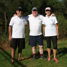 Congratulations to Julian Day, Jordan Vamvakidis and Dr Bronwyn Cooper who raised $2112.25 for the Make A Wish Foundation from their walk from Brisbane to Noosa! Dr Bronwyn Cooper is photographed wearing CW-X 3/4 StabilyX Joint Support Tights.