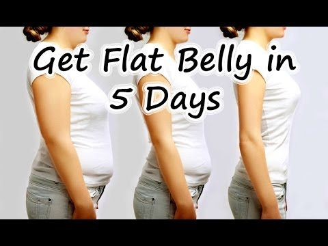 How To Get Flat Belly In 5 Days - Lose up to 5 inches off your waist