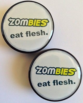 Zombies Eat Flesh Acrylic Plugs (Available in Sizes 6mm-24mm)