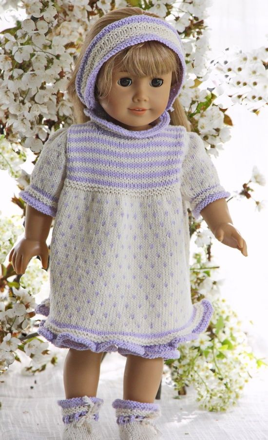 I think my doll was lovely in this dress http://www.doll-knitting-patterns.com/0111D-doll-summer-dress-knititng-pattern.html Design: Målfrid Gausel
