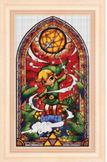 Legend Of Zelda Stained Glass 4 Cross Stitch Pattern