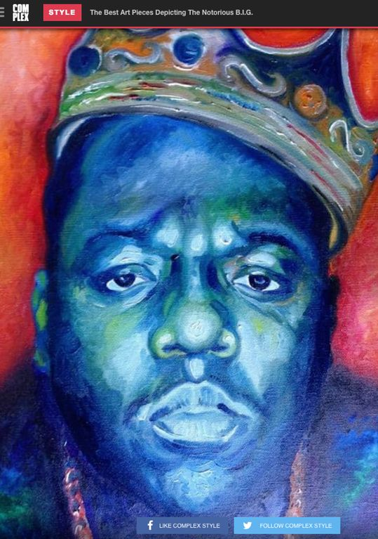 The Best Art Pieces Depicting The Notorious B.I.G. : hiphopheads