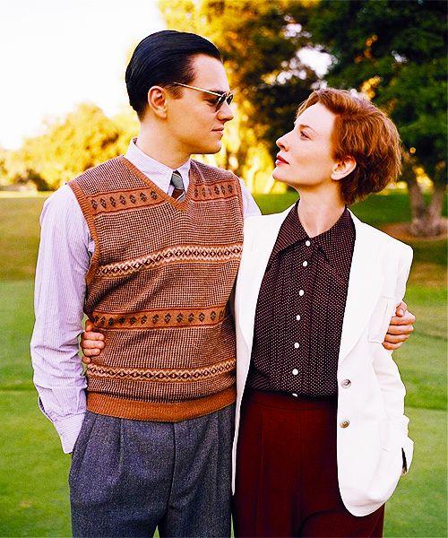 Leo and Cate as Howard Hughes and Katharine Hepburn in The Aviator.
