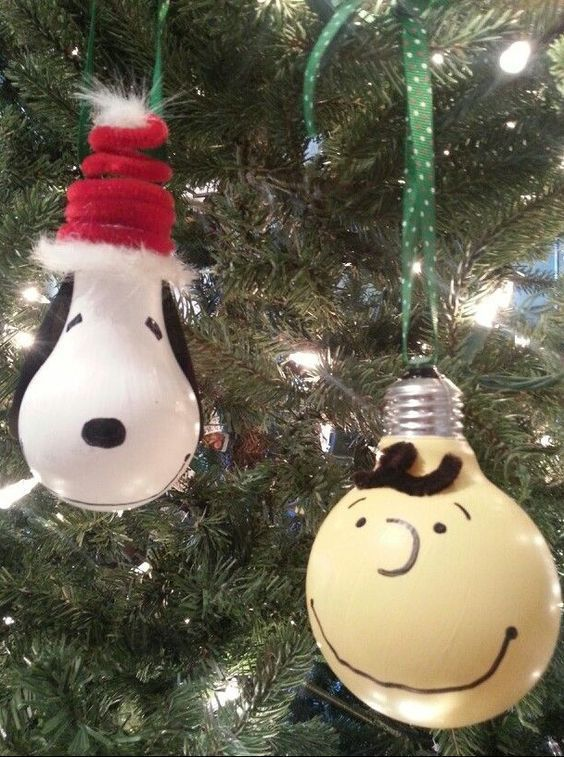 Charlie Brown & Snoopy Ornaments...these are the BEST Homemade Christmas…