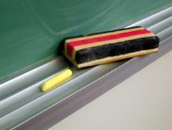 Chalk, Chalkboard and Erasers