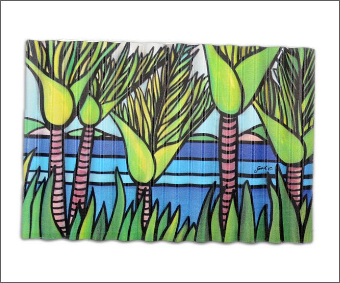 Outdoor art | Corrugated iron art print |Kiwiana art | Aotearoa.co.nz